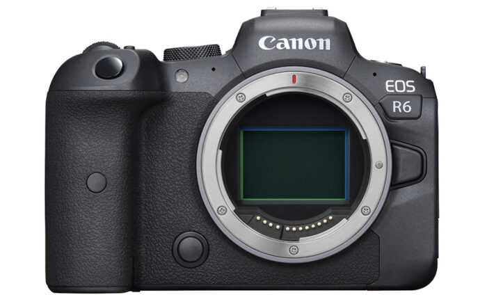 Canon R6 front view