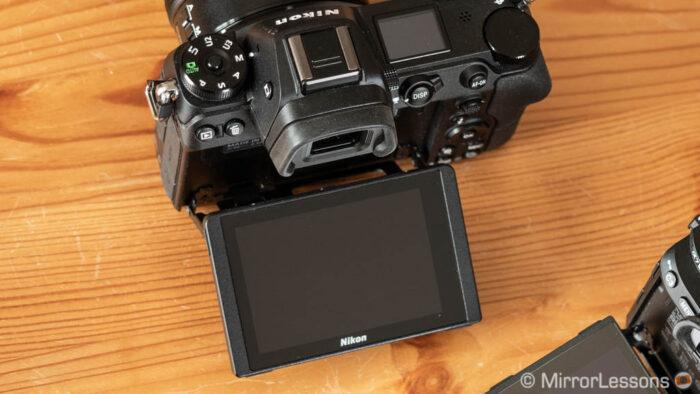 rear LCD screen on the Z6 model