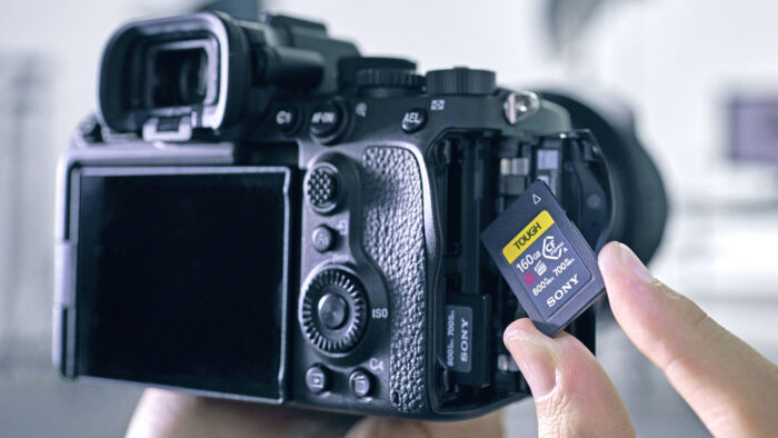 cfexpress type a card on the A7S 3