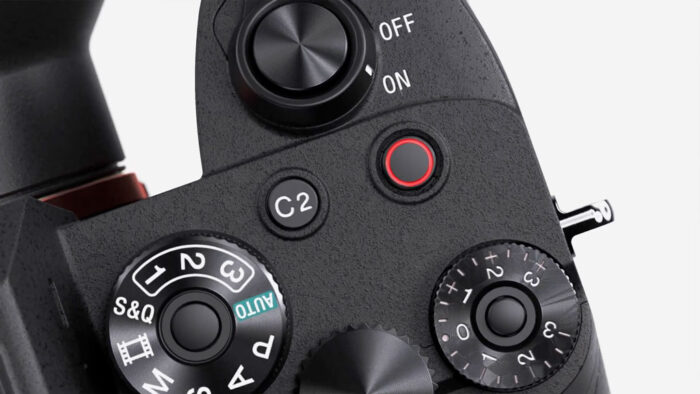 recording button on top of the a7s 3