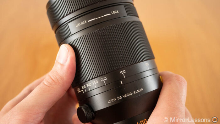 zoom and focus ring on the panasonic lens