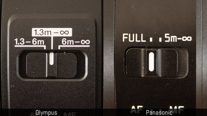 olympus 100-400mm vs panasonic 100-400mm focus limiter switches