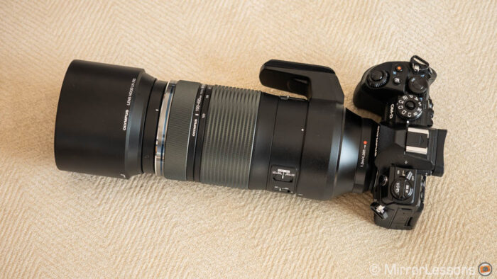 olympus lens with camera