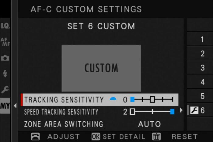 set 6 in the af-c custom settings
