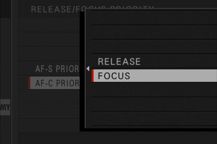 focus / release priority setting