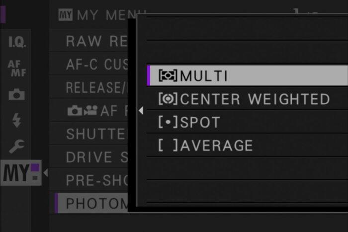 metering settings