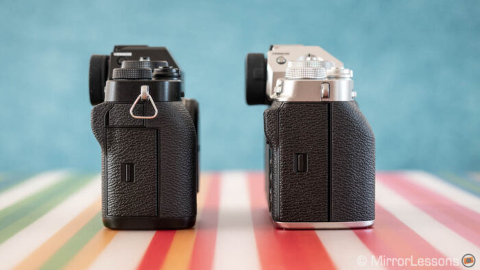 fuji xt3 vs xt4 side view