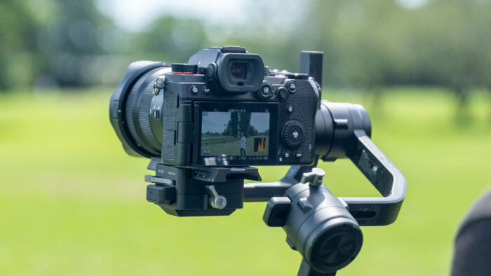 lumix s5 recording video on a gimbal