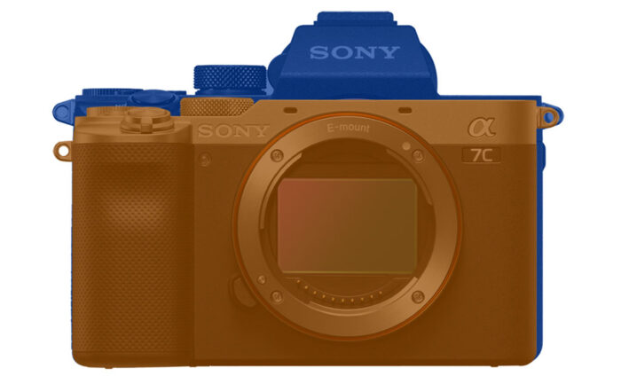 sony a7c vs a7 3 size front view