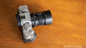 Fujifilm 50mm f2.0 mounted on the X-T4