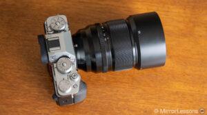 Fujifilm 50mm f1.0 mounted on the X-T4