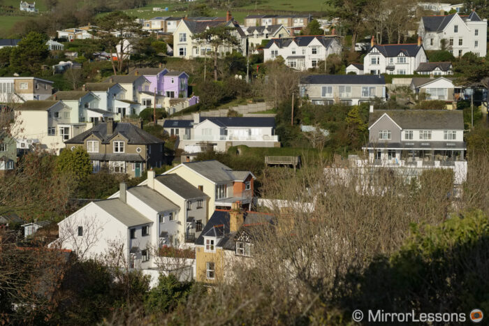 landscape shot of a hill with houses