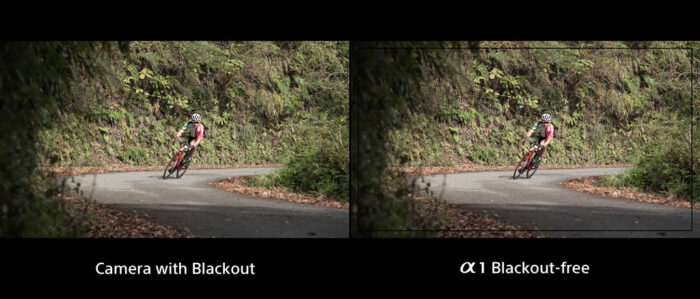 side by side comparison between view with blackout and without blackout, both images are showing the scene