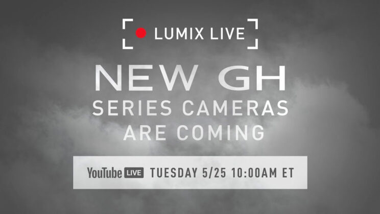 infographic showing the name and date of Panasonic's upcoming live stream on May 25 2021