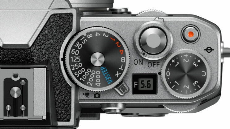 close-up on the top of the Z fc with the exposure dials