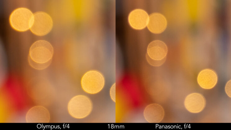 side by side enlargement of the previous image to show the quality of the bokeh balls