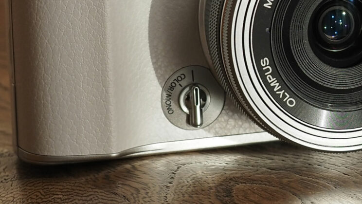 close-up on the Profile Control switch of the Pen E-P7