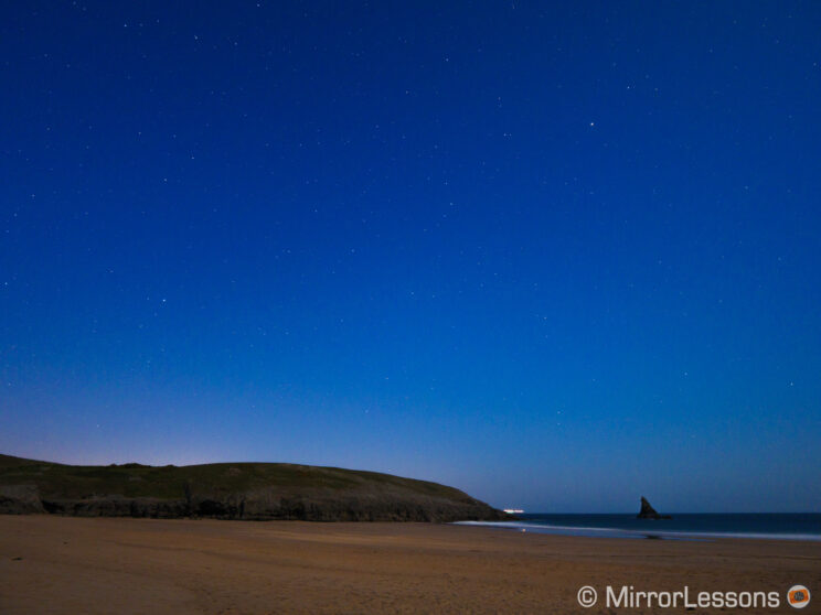starry sky by the sea