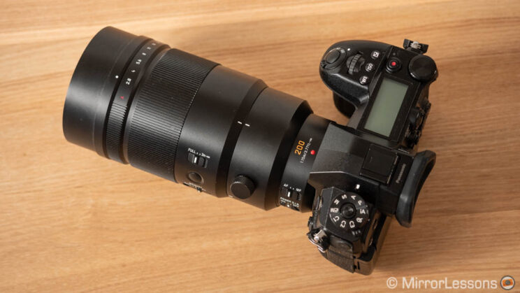 Lumix G9 with 200mm F2.8 attached