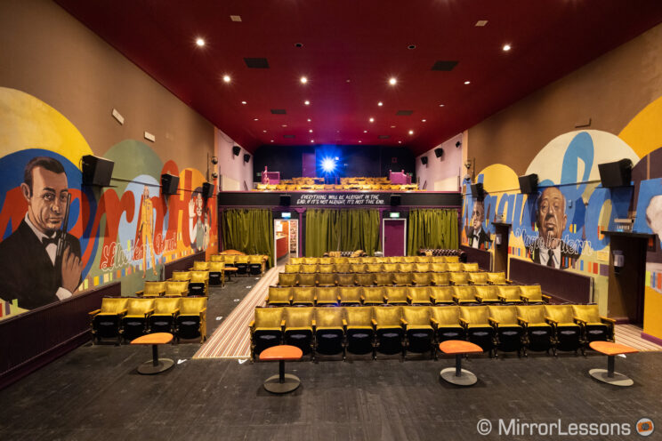 interior of the main theatre inside the magic lantern independent cinema
