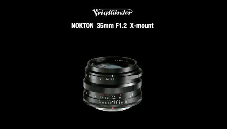 Voigtländer Nokton 35mm F1.2 X-mount on black background