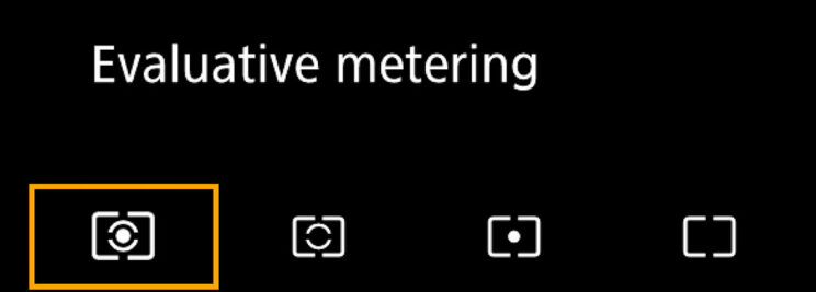 canon menu metering settings