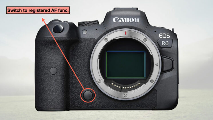 illustration of the configuration with the button at the front of the camera