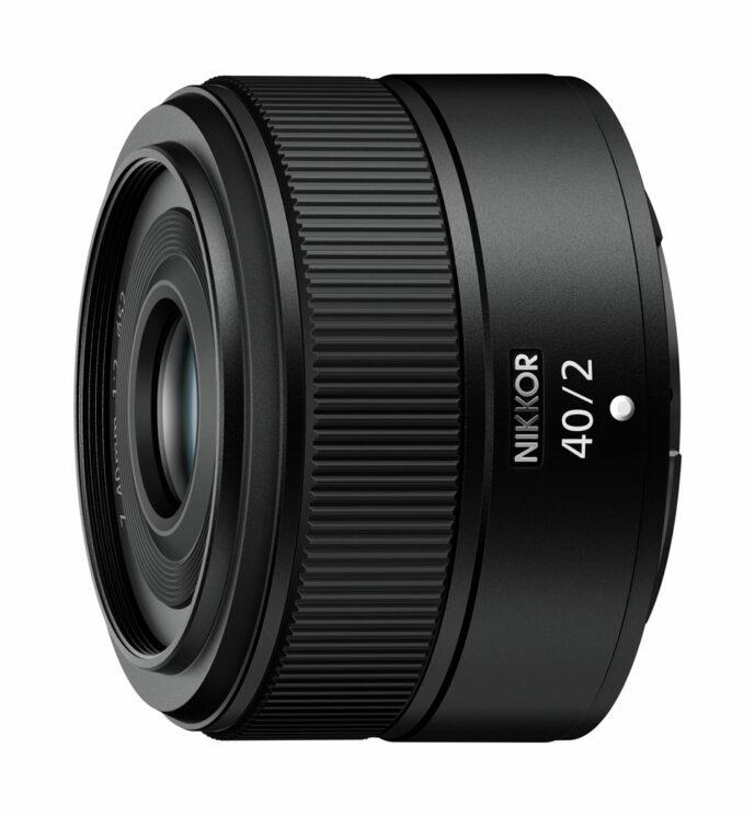 Nikon Z 40mm F2 on white background