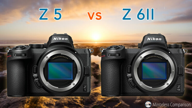 cover image with the Z5 and Z6 II side by side, and the title of the article