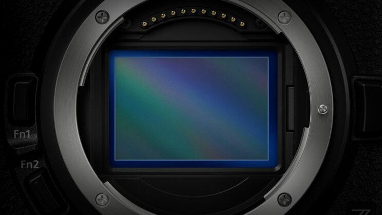 close-up on the sensor of the Nikon Z6 II