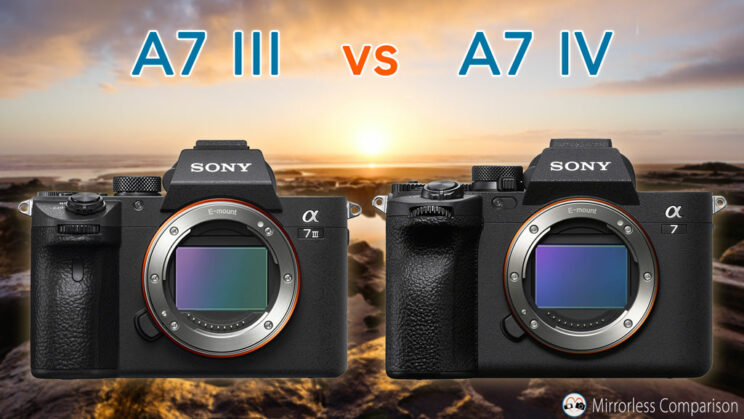 Cover image with the Sony A7 III next to the A7 IV, with the title of the article on top