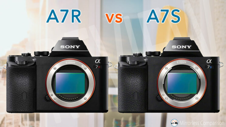Sony A7R and A7S side by side with title of the article on top