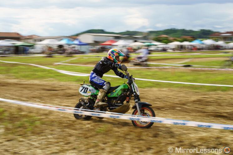 racer on a dirt motorbike
